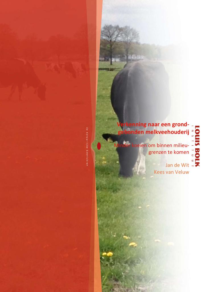 Voorbeeld van de eerste pagina van publicatie 'Verkenning naar een grondgebonden melkveehouderij'