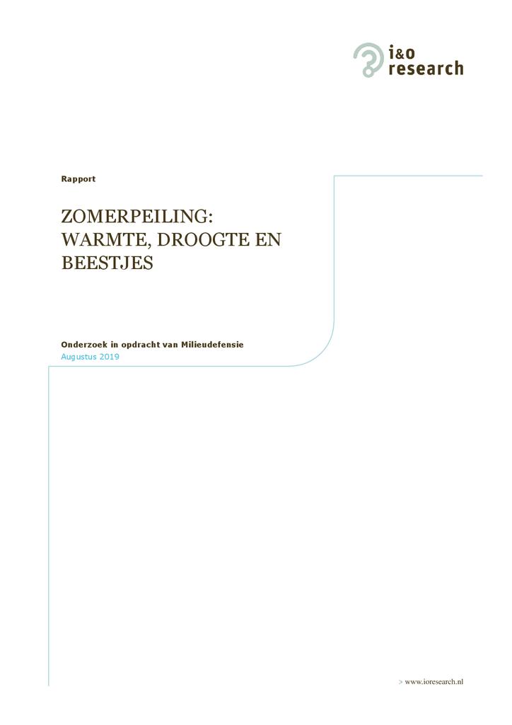 Voorbeeld van de eerste pagina van publicatie 'Nederlanders zijn niet dol op tropische temperaturen'