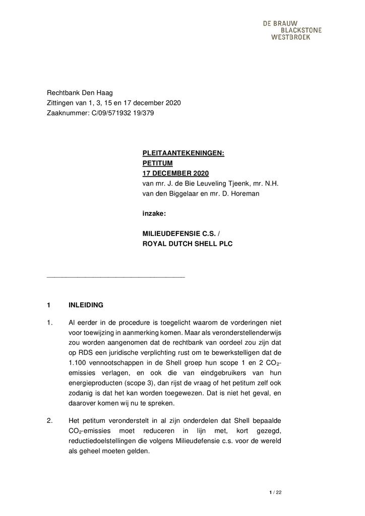 Voorbeeld van de eerste pagina van publicatie 'Petitum Shell'
