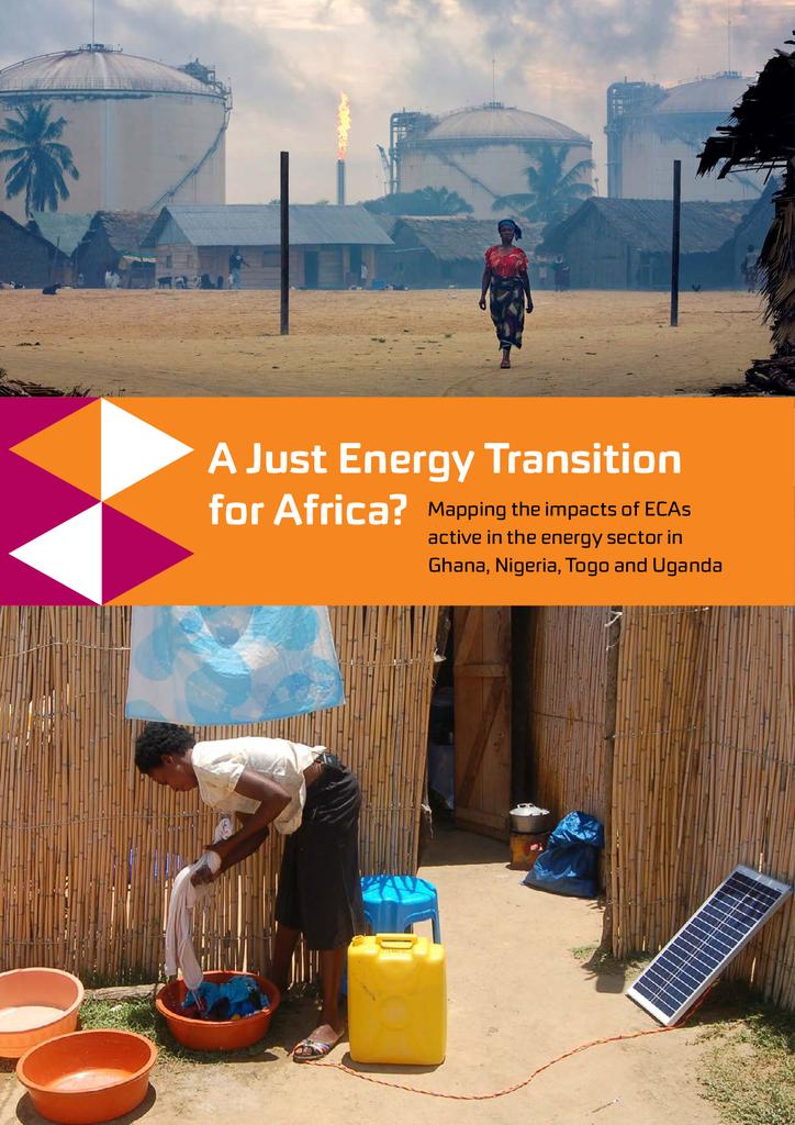 Voorbeeld van de eerste pagina van publicatie 'Rapport: A Just Energy Transition for Africa?'