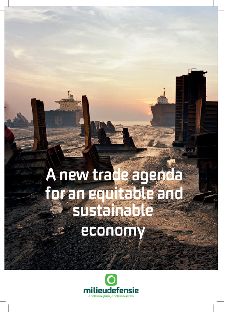 Voorbeeld van de eerste pagina van publicatie 'A new trade agenda for an equitable and sustainable economy'