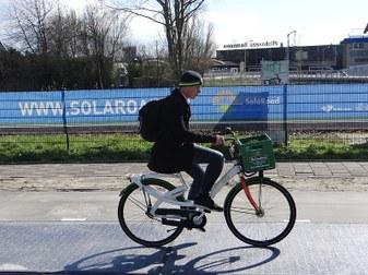 zonne fietspad