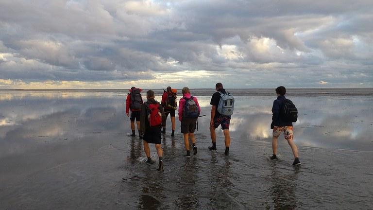 toerist in eigen land: wadlopen in het Hoge Noorden