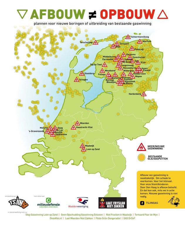 Plannen voor nieuwe boringen of uitbreiding van bestaande gaswinning