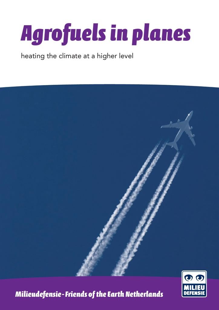 Voorbeeld van de eerste pagina van publicatie 'Agrofuels in planes'