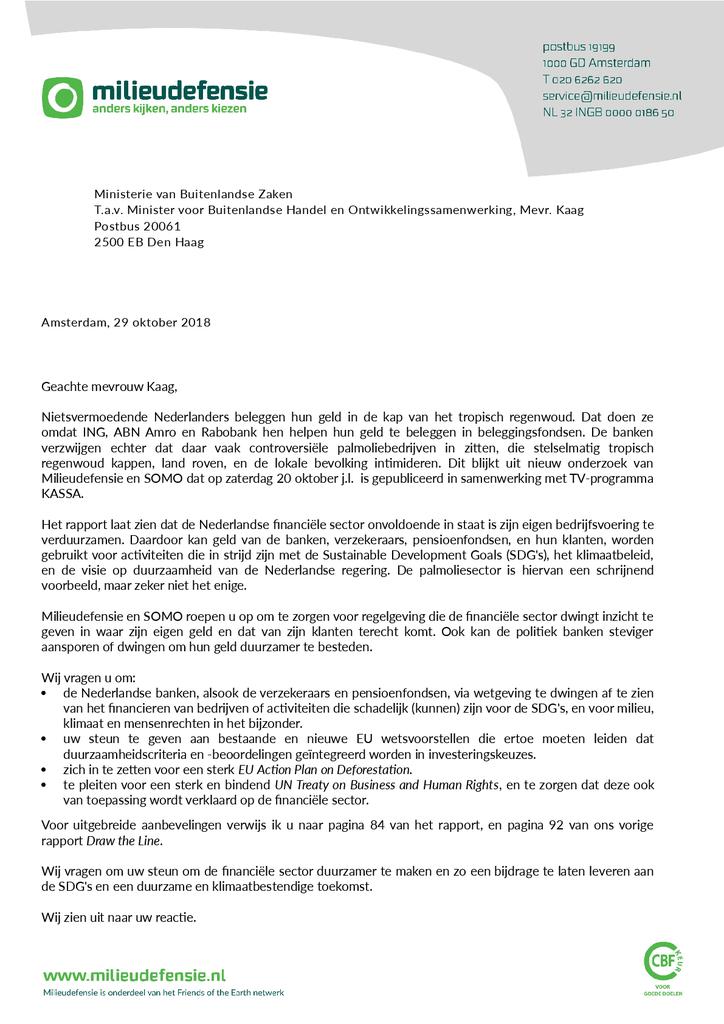 Voorbeeld van de eerste pagina van publicatie 'Lobbybrief: Beleggingsfondsen niet duurzaam'
