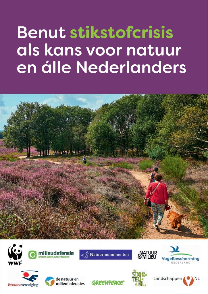 Voorbeeld van de eerste pagina van publicatie 'Benut de stikstofcrisis als kans voor natuur en álle Nederlanders'