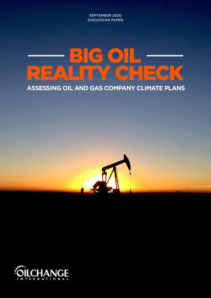 Voorbeeld van de eerste pagina van publicatie 'Big Oil: Reality Check'
