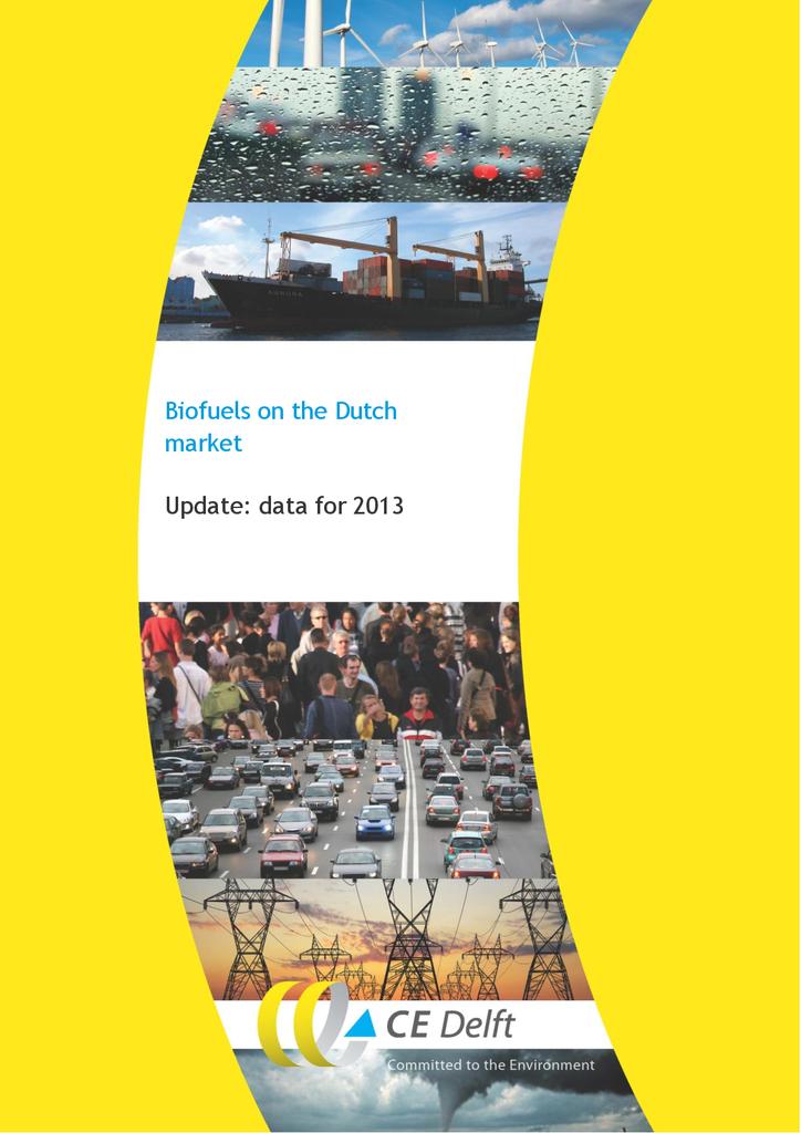 Voorbeeld van de eerste pagina van publicatie 'Biofuels on the Dutch market - 2015 update'