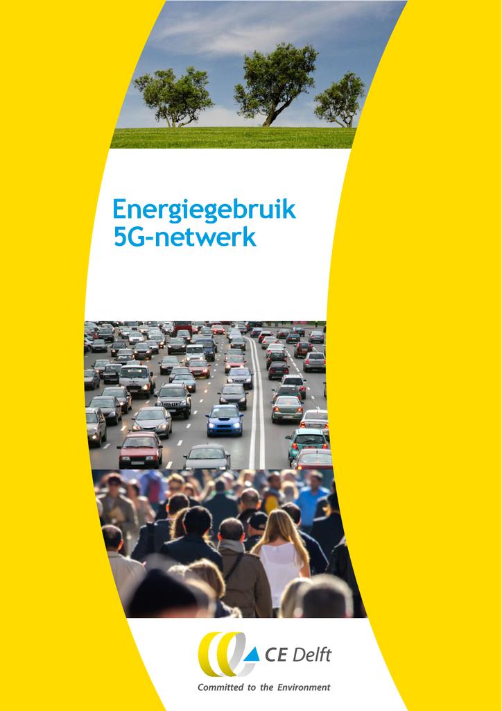 Voorbeeld van de eerste pagina van publicatie 'Rapport: energiegebruik 5G-netwerk'