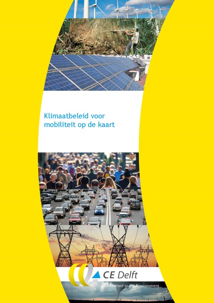 Voorbeeld van de eerste pagina van publicatie 'Rapport: Klimaatbeleid voor mobiliteit op de kaart'