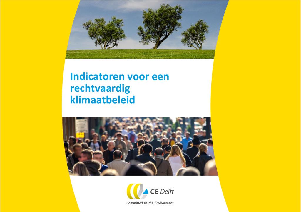 Voorbeeld van de eerste pagina van publicatie 'CE Delft: Indicatoren voor een rechtvaardig klimaatbeleid'