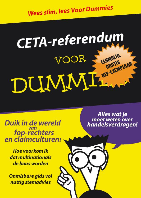 Voorbeeld van de eerste pagina van publicatie 'CETA referendum voor Dummies'