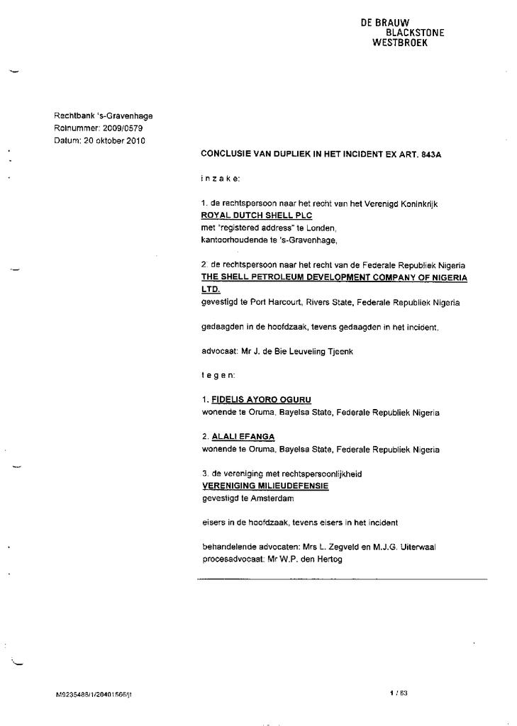 Voorbeeld van de eerste pagina van publicatie 'Conclusie van dupliek'