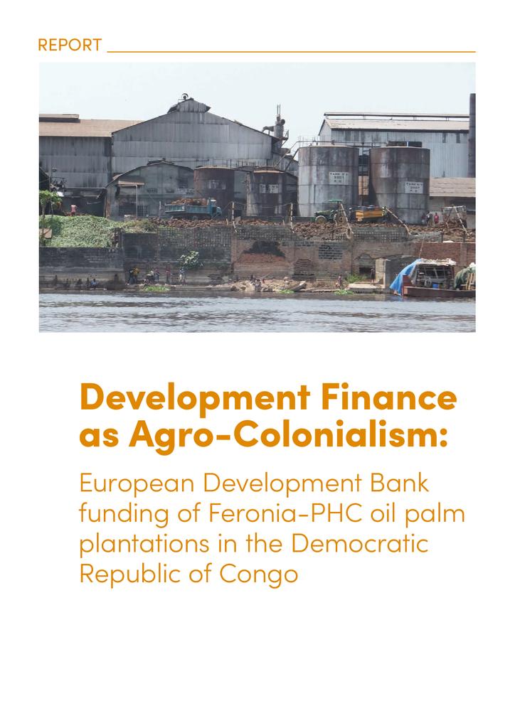 Voorbeeld van de eerste pagina van publicatie 'Rapport: Europese ontwikkelingsbanken financieren omstreden palmolie plantages'