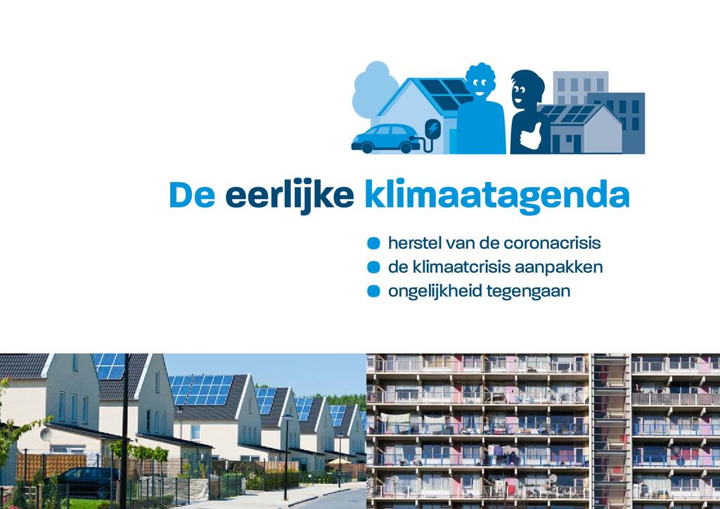 Voorbeeld van de eerste pagina van publicatie 'Eerlijke Klimaatagenda'