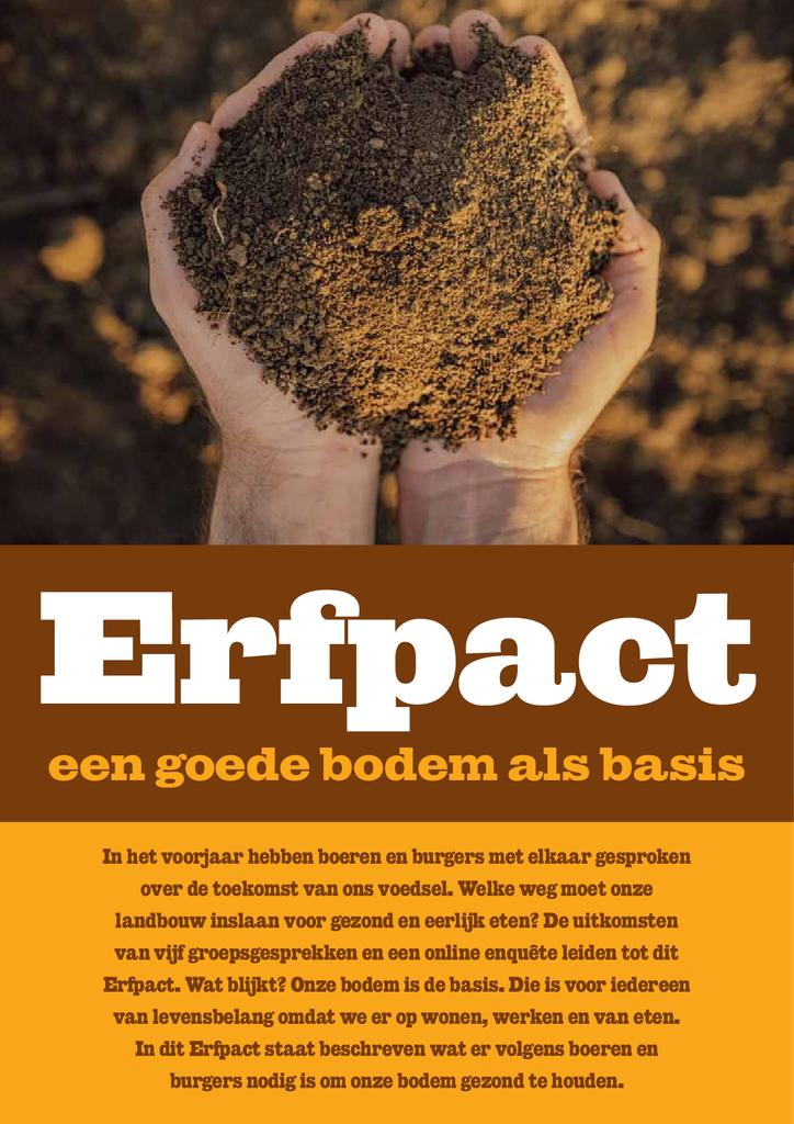 Voorbeeld van de eerste pagina van publicatie 'Erfpact - Een goede bodem als basis'