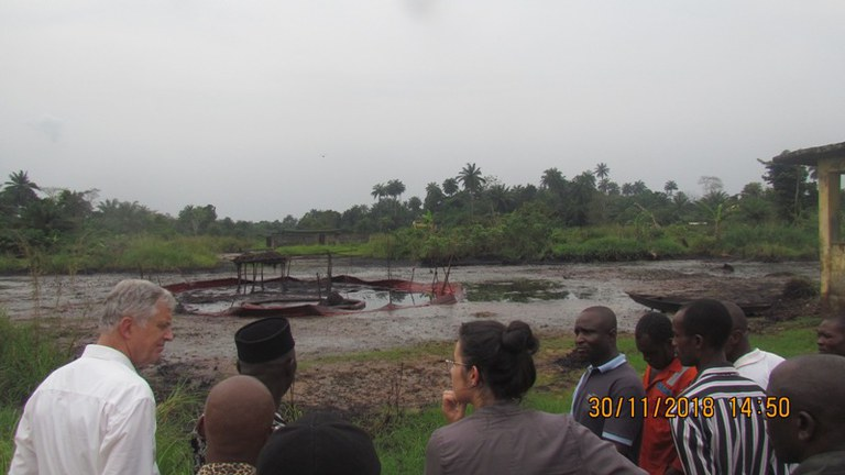 Facing the spill impacted environment.JPG