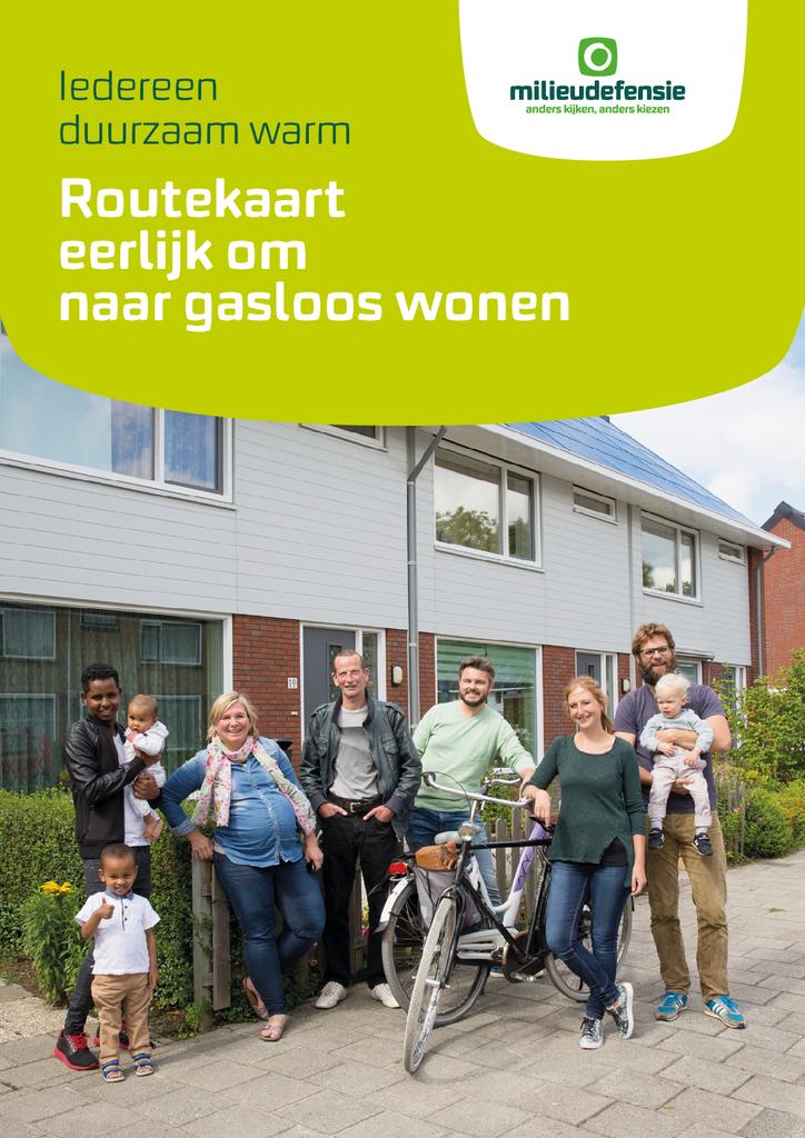 Voorbeeld van de eerste pagina van publicatie 'Routekaart naar gasloos wonen'
