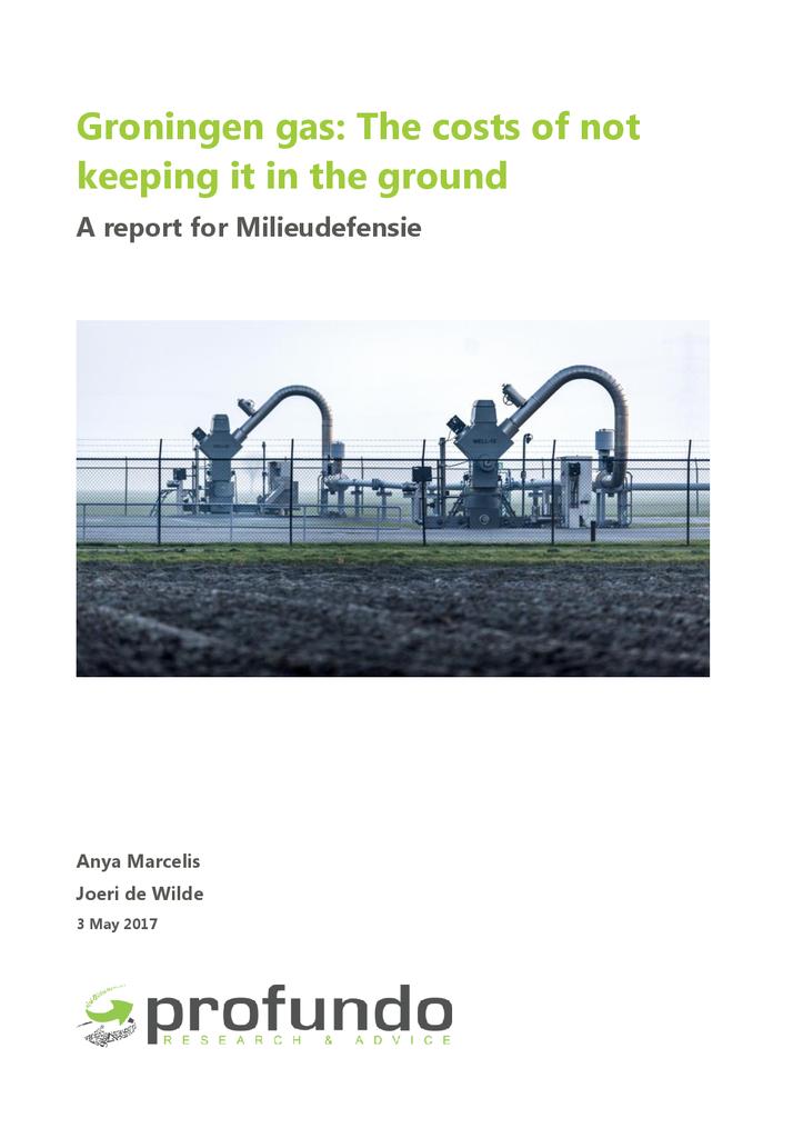 Voorbeeld van de eerste pagina van publicatie 'Groningen gas: The costs of not keeping it in the ground'