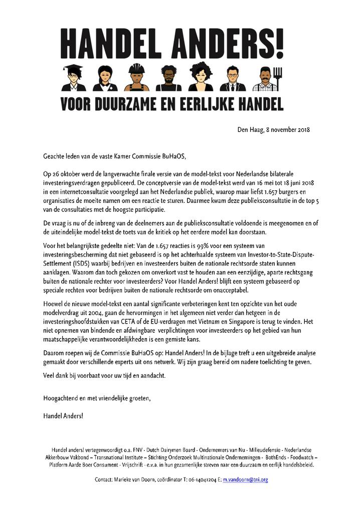 Voorbeeld van de eerste pagina van publicatie 'Handel anders, voor duurzame en eerlijke handel'