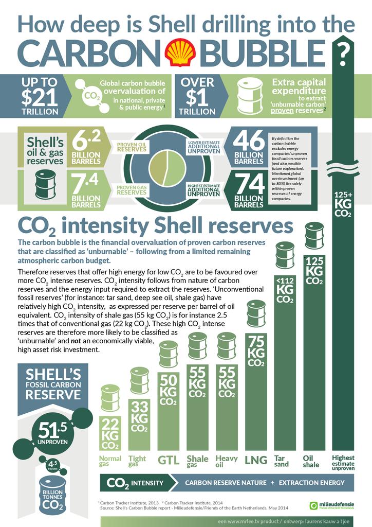 Voorbeeld van de eerste pagina van publicatie 'Infographic Shell's Carbon Bubble'
