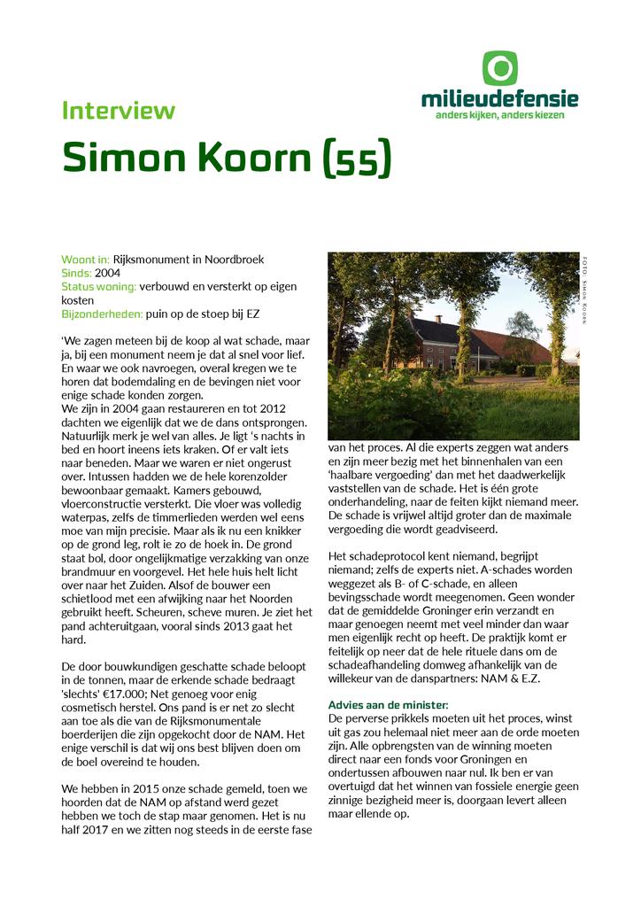 Voorbeeld van de eerste pagina van publicatie 'Interview met Groninger Simon Kroon'