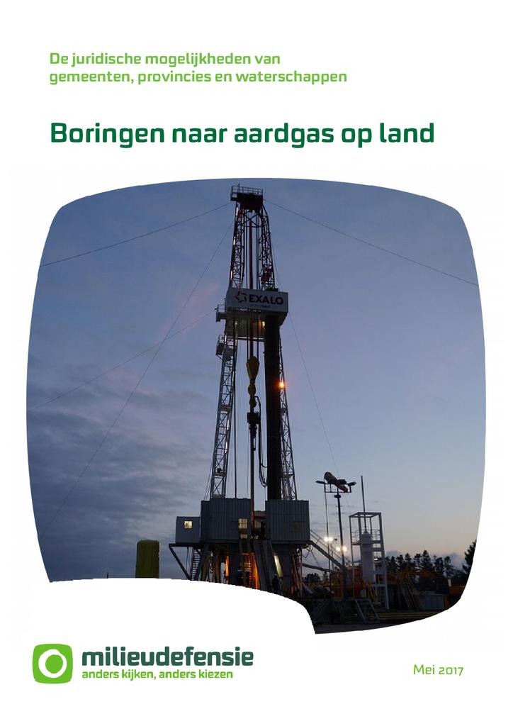 Voorbeeld van de eerste pagina van publicatie 'Juridische mogelijkheden tegen gaswinning'