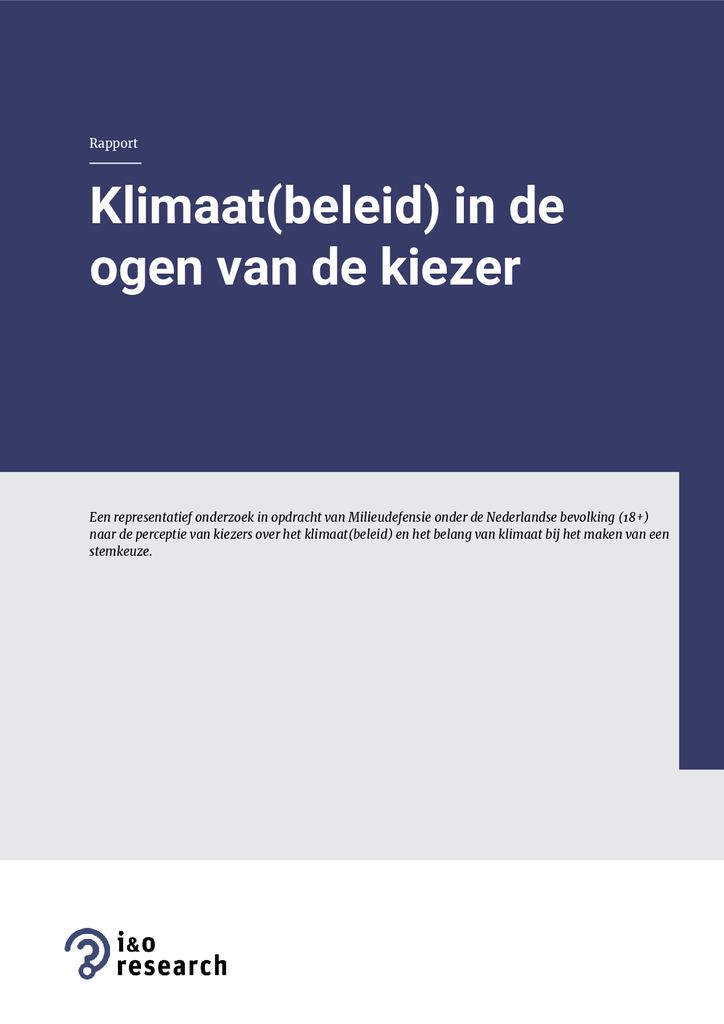 Voorbeeld van de eerste pagina van publicatie 'Klimaat(beleid) in de ogen van de kiezer'