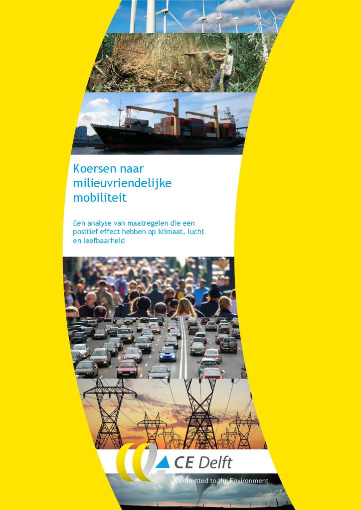 Voorbeeld van de eerste pagina van publicatie 'Koersen naar milieuvriendelijke mobiliteit'