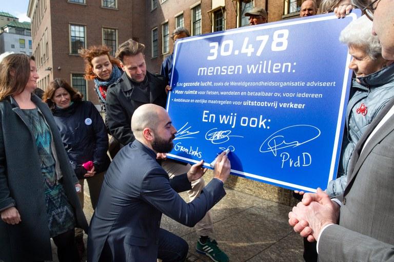 Petitie gezonde lucht en duurzaam verkeer