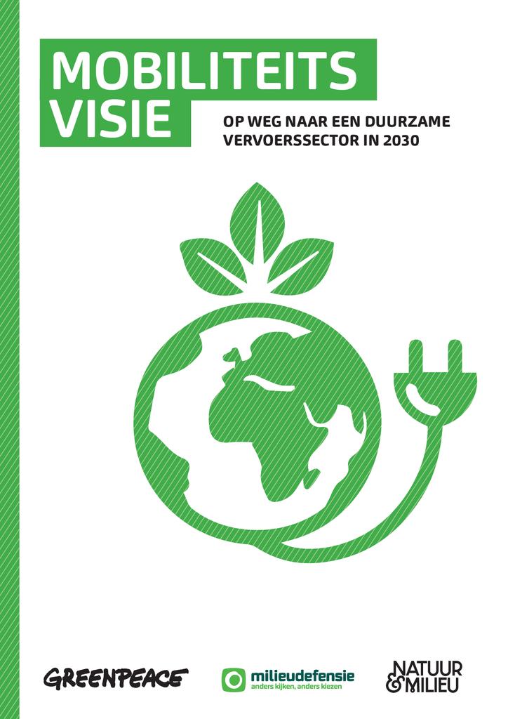 Voorbeeld van de eerste pagina van publicatie 'Visie: Op weg naar een duurzame vervoerssector in 2030'
