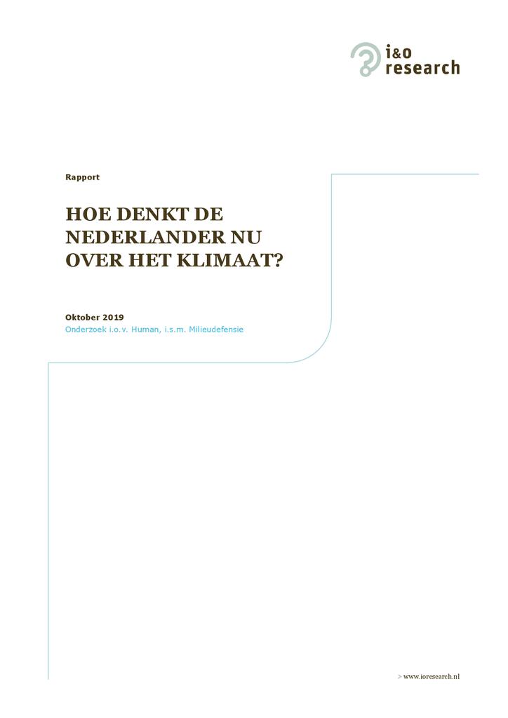 Voorbeeld van de eerste pagina van publicatie 'Hoe denkt de Nederlander nu over het klimaat?'