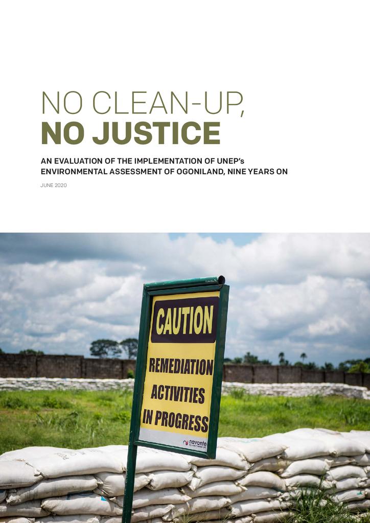 Voorbeeld van de eerste pagina van publicatie 'No clean up, no justice'