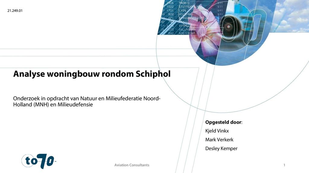 Voorbeeld van de eerste pagina van publicatie 'Onderzoek: woningbouw rondom Schiphol'