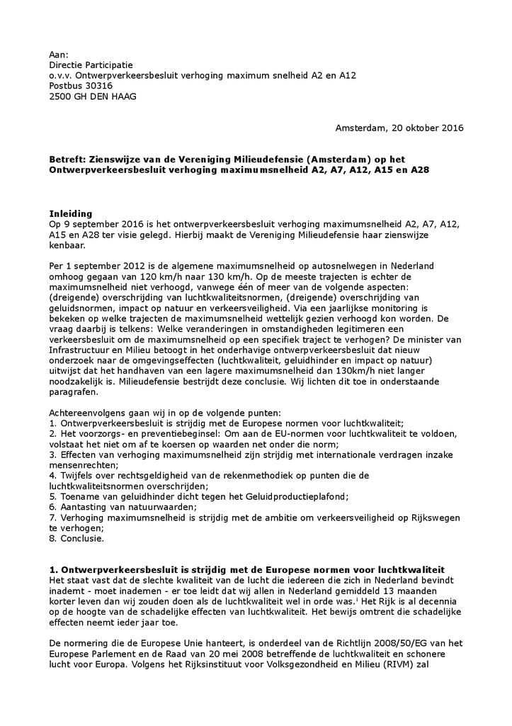 Voorbeeld van de eerste pagina van publicatie 'Ontwerp Verkeersbesluit verhoging maximumsnelheid'