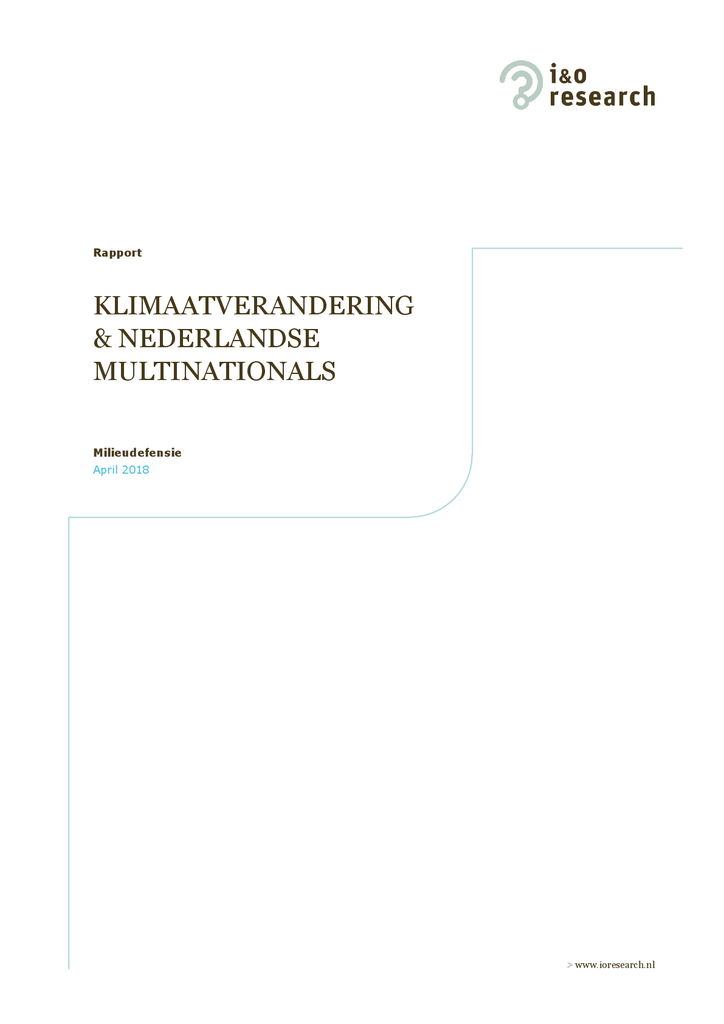 Voorbeeld van de eerste pagina van publicatie 'Nederlanders willen dat grote bedrijven als Shell zich houden aan Parijsakkoord'