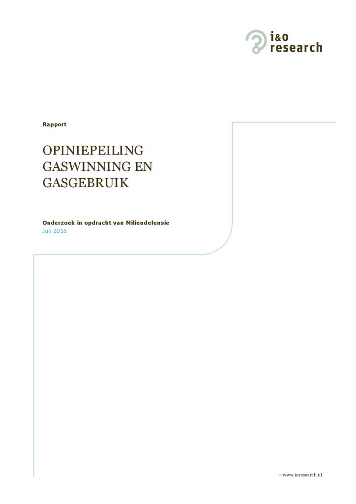 Voorbeeld van de eerste pagina van publicatie 'Opiniepeiling gaswinning en gasgebruik'