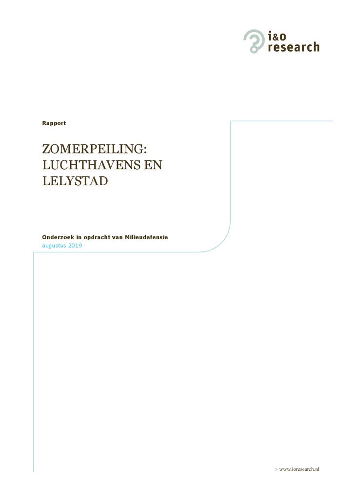 Voorbeeld van de eerste pagina van publicatie 'Onderzoek: Nederlanders willen geen groei van luchthavens'