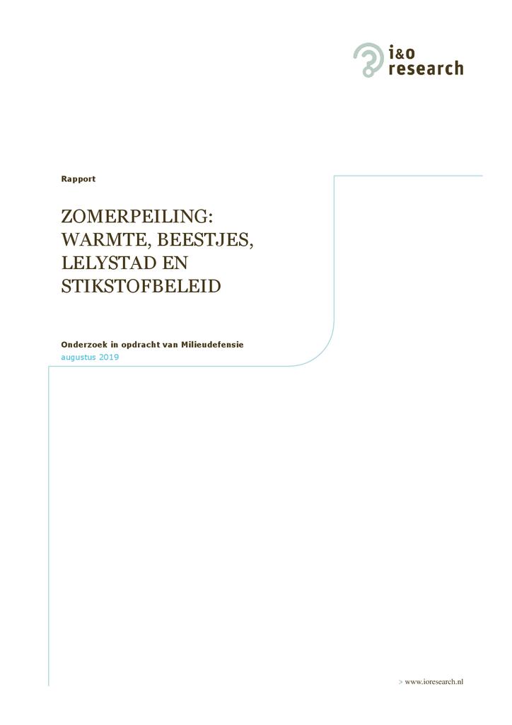 Voorbeeld van de eerste pagina van publicatie 'Bouwprojecten stilleggen voor natuurbescherming: meerderheid Nederlanders begrijpt het.'