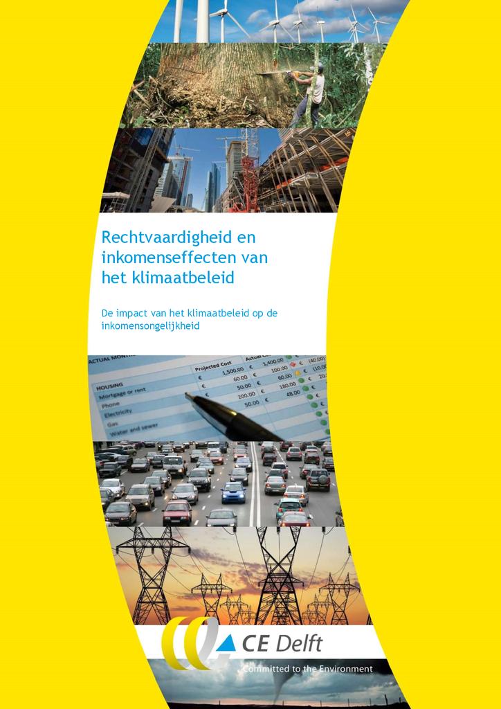 Voorbeeld van de eerste pagina van publicatie 'Rapport CE Delft - Rechtvaardigheid en inkomenseffecten van het klimaatbeleid'
