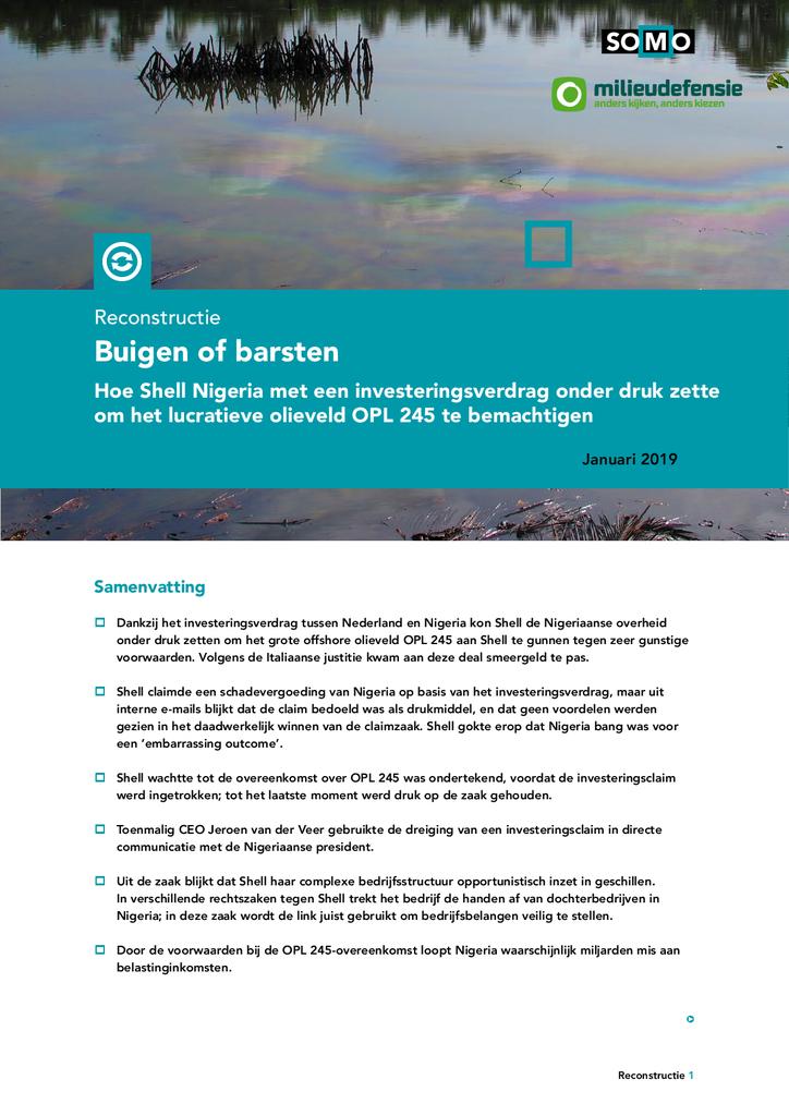 Voorbeeld van de eerste pagina van publicatie 'Buigen of Barsten'