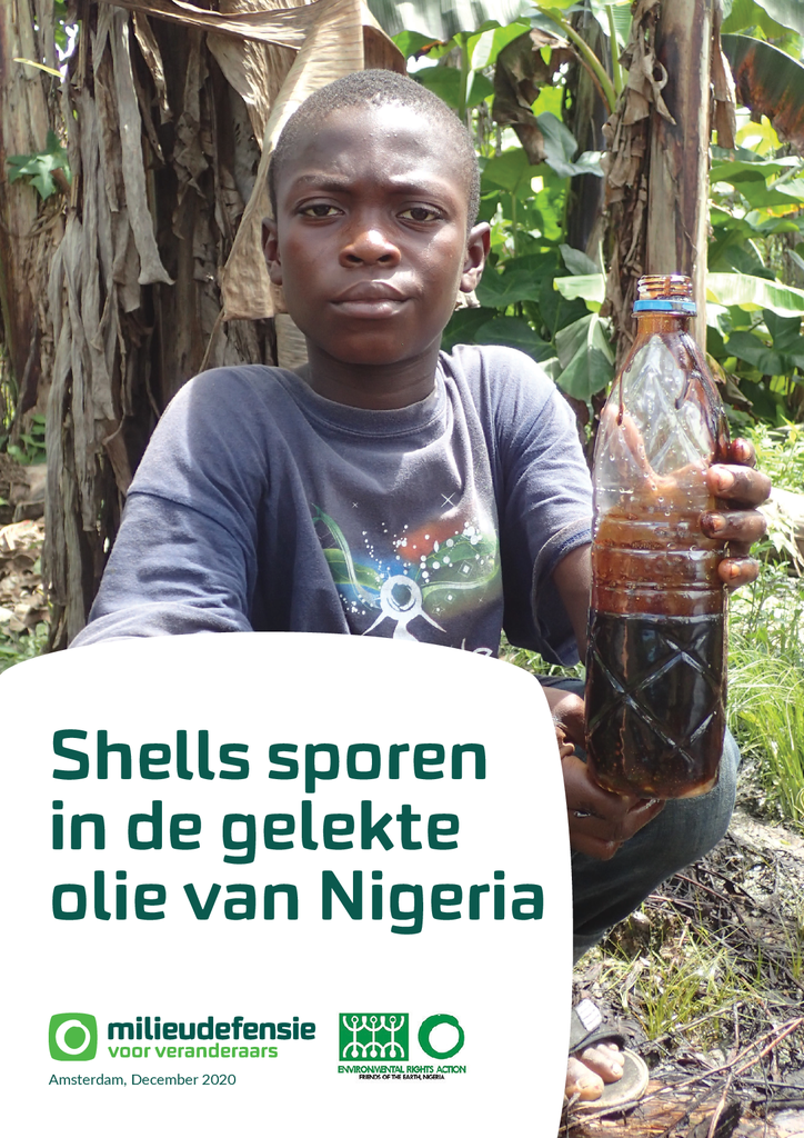 Voorbeeld van de eerste pagina van publicatie 'Shells sporen in de gelekte olie van Nigeria'