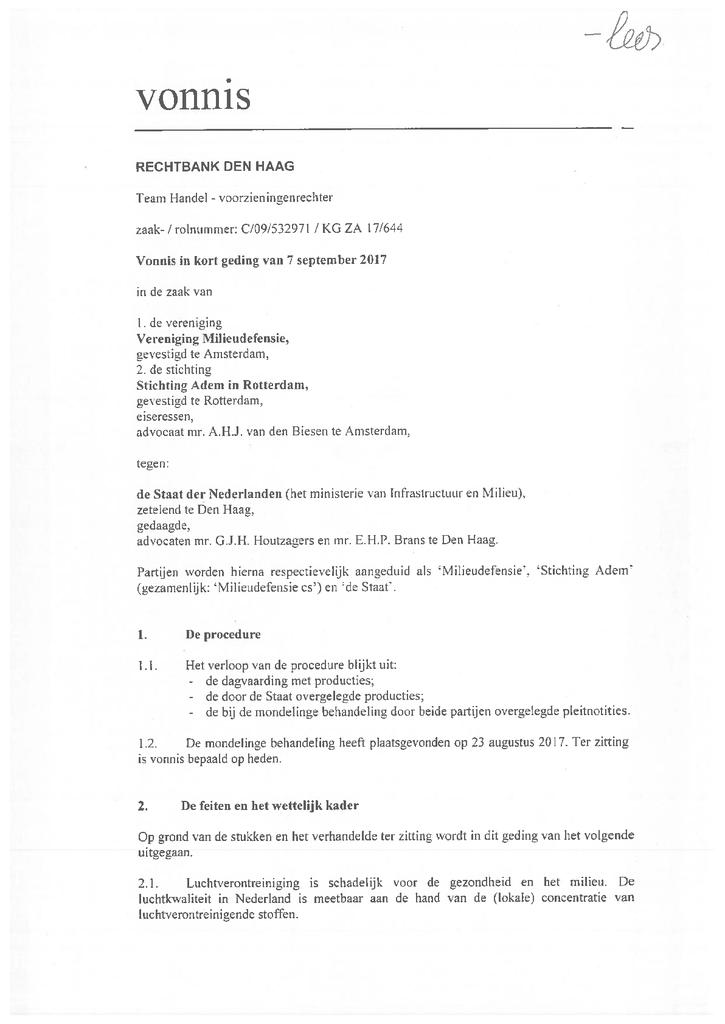 Voorbeeld van de eerste pagina van publicatie 'Vonnis kort geding'