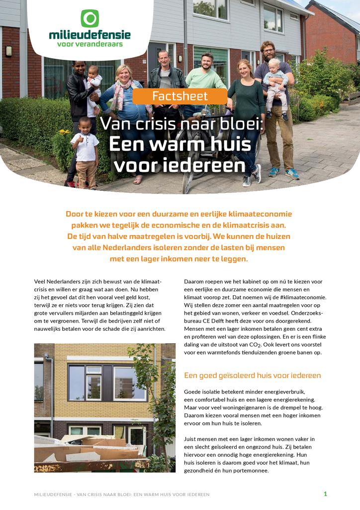 Voorbeeld van de eerste pagina van publicatie 'Warmtefonds - Een warm huis voor iedereen'