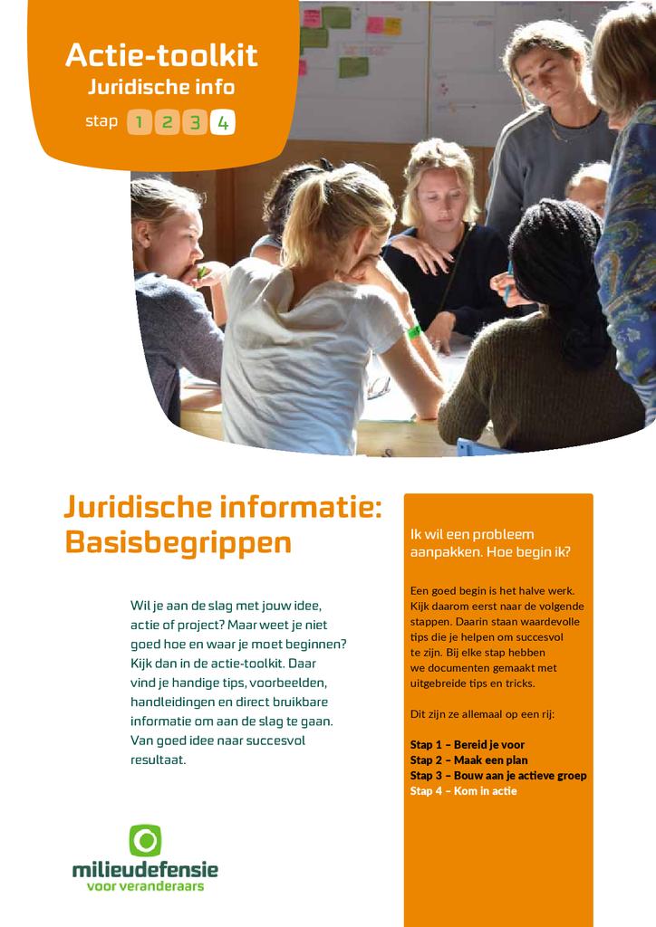Voorbeeld van de eerste pagina van publicatie 'Juridische informatie: basisbegrippen'