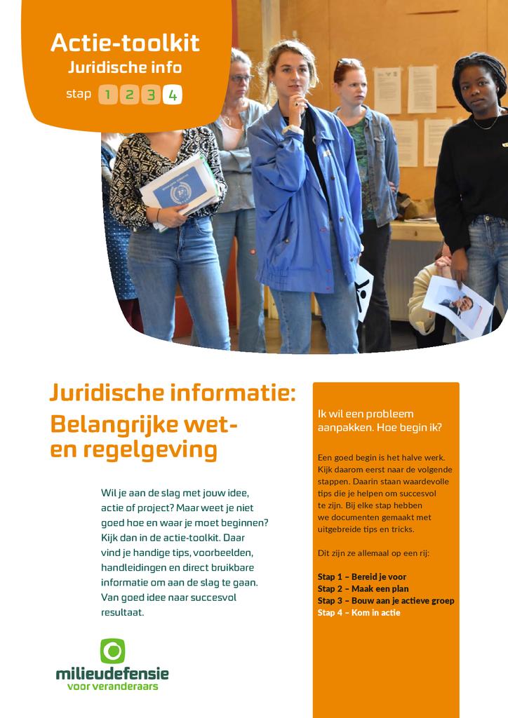 Voorbeeld van de eerste pagina van publicatie 'Juridische informatie: belangrijke wet- en regelgeving'