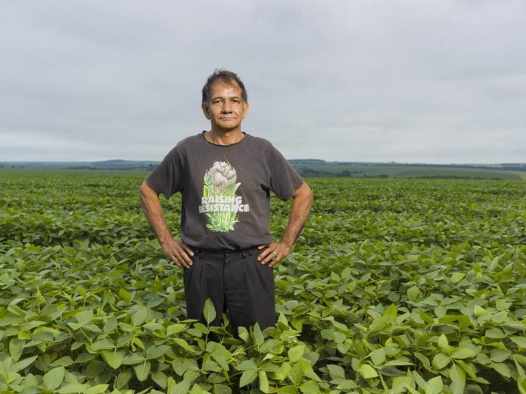 Geronimo Arevalo is getroffen door soja-problematiek in Paraguay - copyright Ton Koene