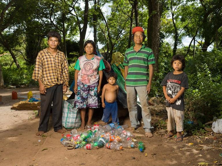 Familie Cabral in Coronel Oviedo Paraguay is getroffen door soja-problematiek - copyright Ton Koene